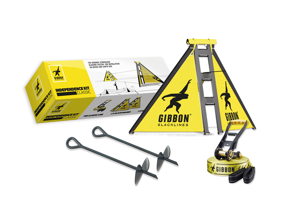 Gibbon Independence Kit Classic Komplett-Set fürs Slacklinen ohne Bäume
